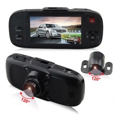 Camera Video Auto Duala 604GS cu Inregistrare HD 720P si a 2-a camera mobila